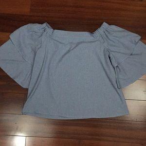 New Rachel Roy oversized crop top blouse
